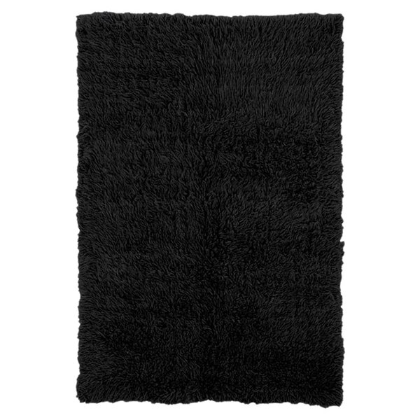 Meyers Wool Black Area Rug by Linon