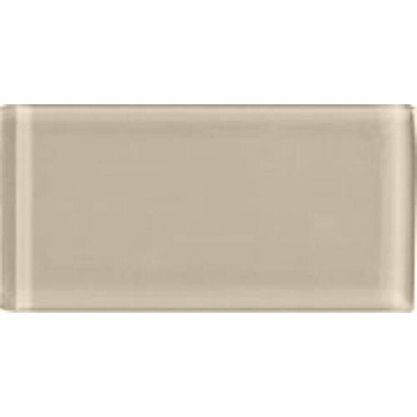Shimmer 3 x 6 Glass Subway Tile in Beach by Interceramic