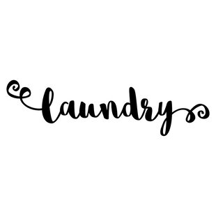laundry room sign wall decal - Laundry Room Signs