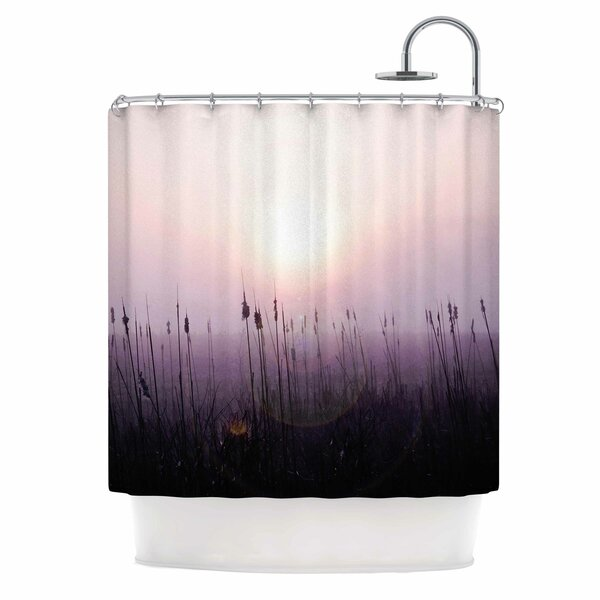 Angie Turner Sunrise Cattails Shower Curtain by East Urban Home