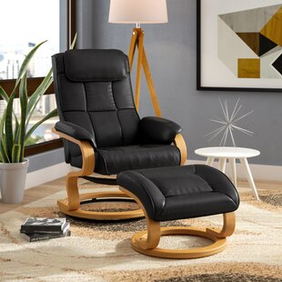 Medford Manual Swivel Recliner with Ottoman Corrigan Studio