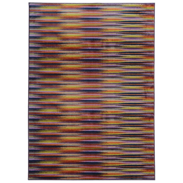 Prismatic Abstract Gold & Orange Area Rug by Pantone Universe