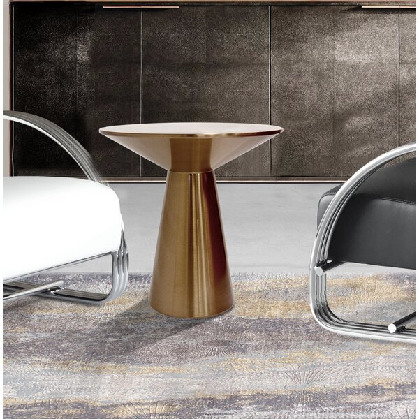 Lorenzo Metal Side Table by Pasargad