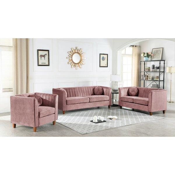 Bellevue 3 Piece Living Room Set by House of Hampton House of Hampton
