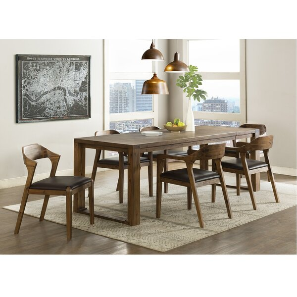 Bourgoin 7 Piece Drop Leaf Solid Wood Dining Set by Foundry Select