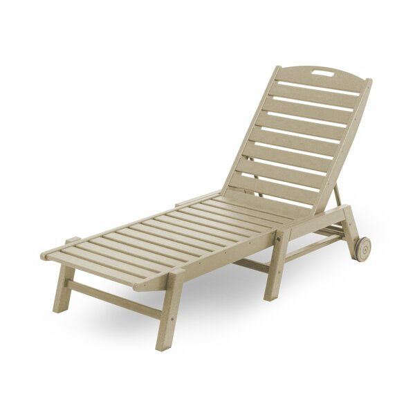 Nautical Reclining Chaise Lounge by POLYWOOD®