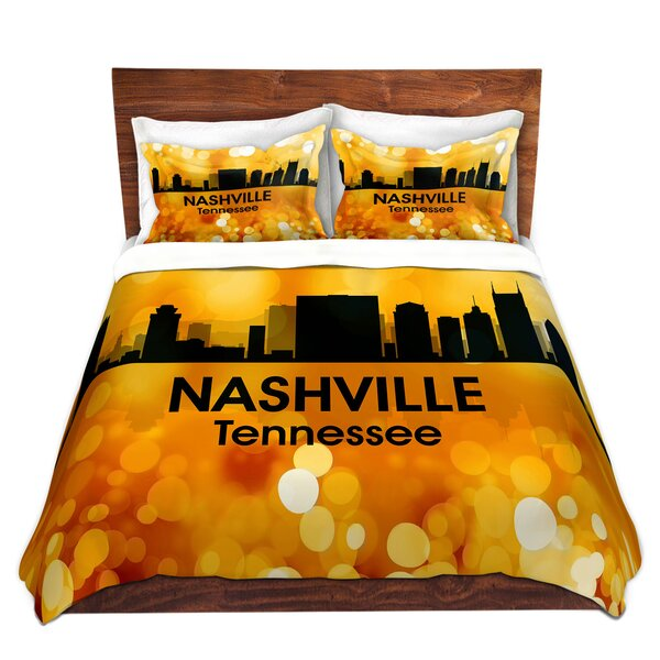 City III Nashville Tennessee Duvet Cover Set