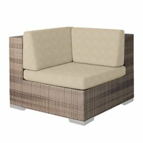 Arzo Corner Sectional Piece Patio Chair with Cushions by Tropitone