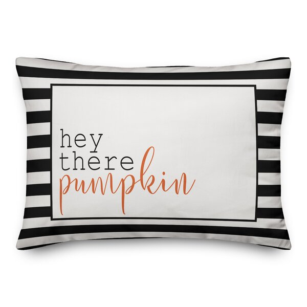 Trip Hey There Pumpkin Lumbar Pillow by The Holiday Aisle