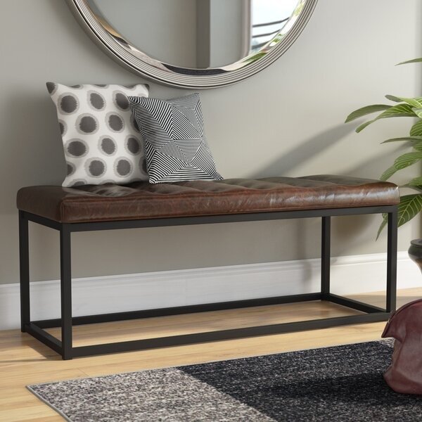 Lembus Faux Leather Bench by Mercury Row