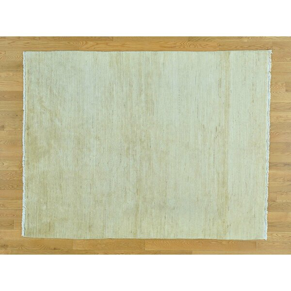 One-of-a-Kind Becker Plain Hand-Knotted Beige Wool Area Rug by Isabelline