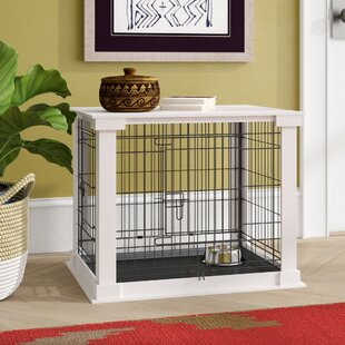 aries pet crate end table - Dog Crate Side Table