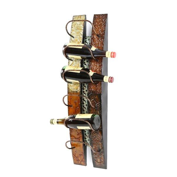 Zendaya 6 Bottle Wall Mounted Wine Rack by Fleur De Lis Living