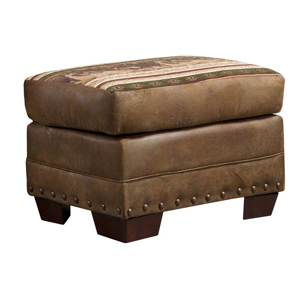 Charlie Wild Horses Ottoman by Millwood Pines