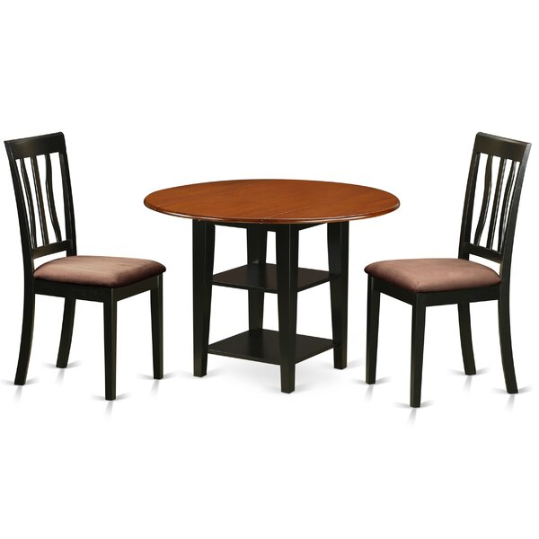 Tyshawn Drop Leaf Dining Set by Charlton Home Charlton Home