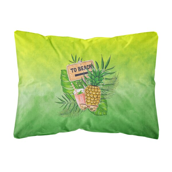 Ruiz To the Beach Summer Indoor/Outdoor Throw Pillow by Bay Isle Home