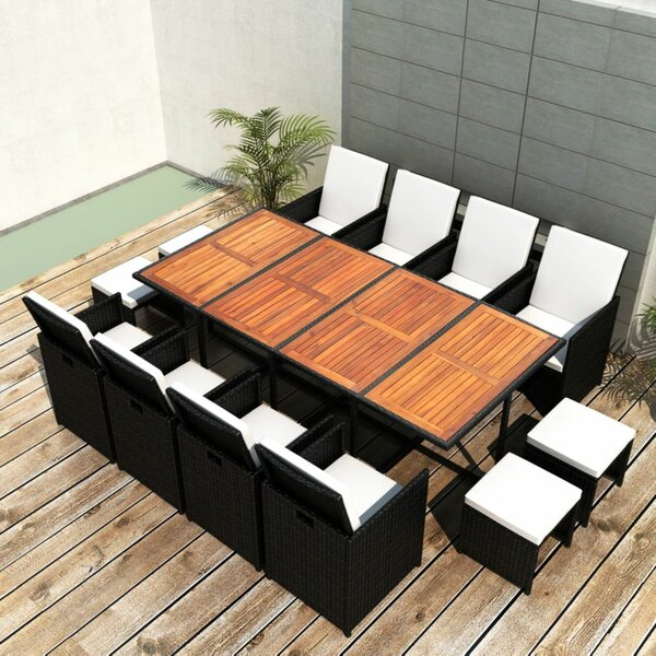 Spataro 13 Piece Dining Set with Cushions by Brayden Studio