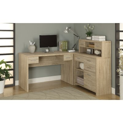 milford lshaped computer desk with hutch