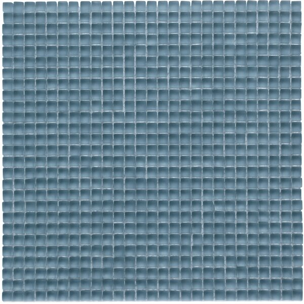 Atlantis 0.25 x 0.25 Glass Mosaic Tile in Dorado Blue by Solistone