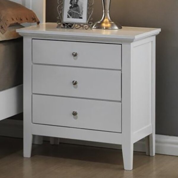 Ballenger 3 Drawer Nightstand by Alcott Hill