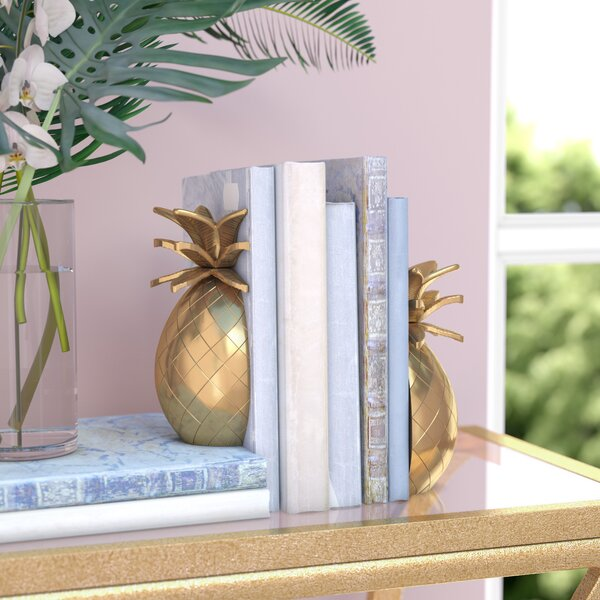 Glam Pineapple Bookends (Set of 2) by Willa Arlo Interiors