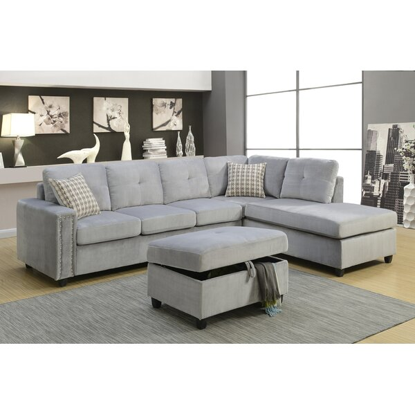 Shop Special Prices In Branham Reversible Sectional by Alcott Hill by Alcott Hill