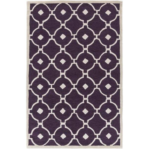 Kroeger Purple & Ivory Area Rug by Latitude Run