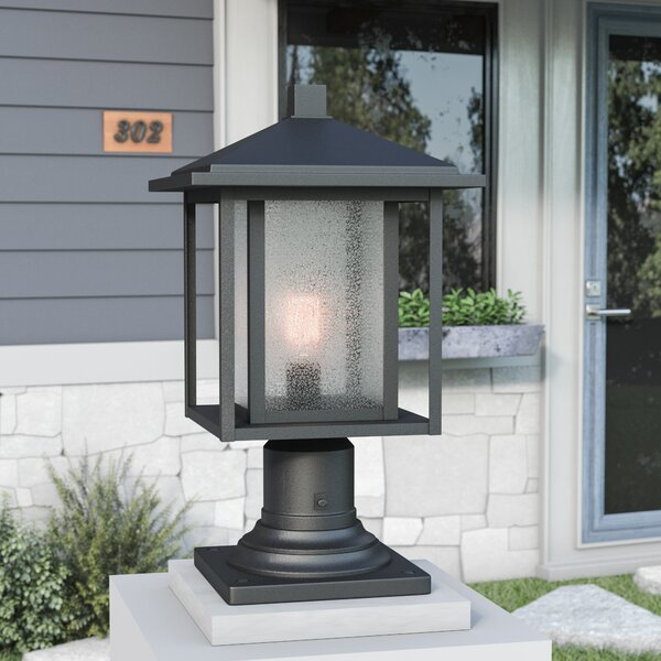 Hungate Outdoor 1-Light Pier Mount Light by Bloomsbury Market