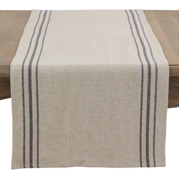 Filip Striped Linen Table Runner by Breakwater Bay