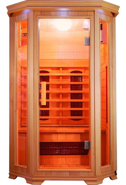 Heathrow 2 Person FAR Infrared Sauna by SunRay Saunas