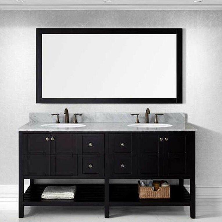 Willa arlo interiors bob 70 9 double bathroom vanity set for Bobs furniture bathroom vanity