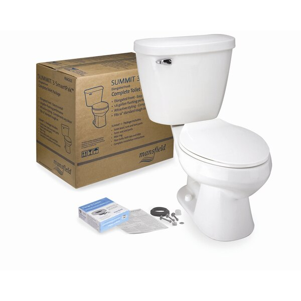 Summit 3 SmartPak Front Complete 1.6 GPF Round Two-Piece Toilet by Mansfield Plumbing Products