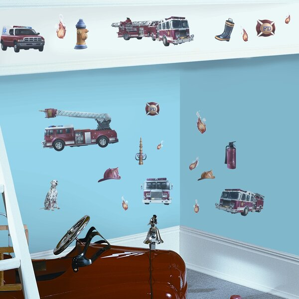 Studio Designs 22 Piece Fire Brigade Wall Decal by Room Mates