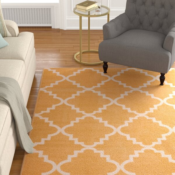 Ozzie Lattice Gold Area Rug by The Twillery Co.