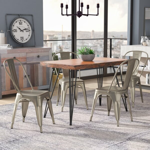 Hanna Tolix Dining Chair (Set of 4) by Williston Forge Williston Forge