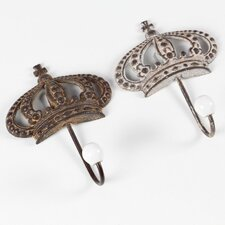 Jada Rusted Crown Shaped Wall Hook (Set of 2) by Ophelia & Co.