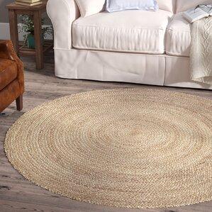 fleuristes jute handwoven natural area rug