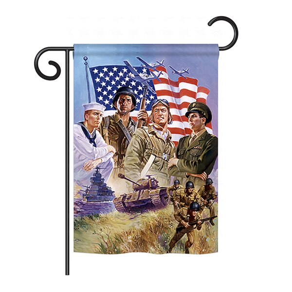 The Armed Forces 2-Sided Vertical Flag by Breeze Decor