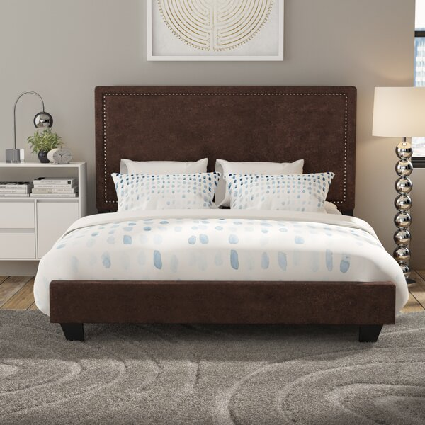 Gomes King Upholstered Standard Bed by Ebern Designs