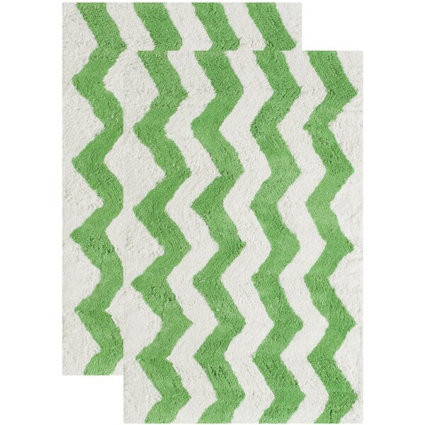 Wadley Hand-Tufted Key Lime Area Rug (Set of 2) by Harriet Bee