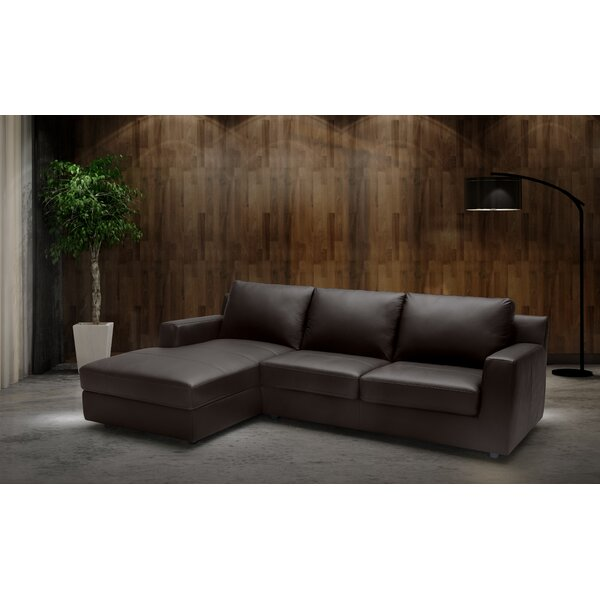Blandon Leather Sectional by Brayden Studio