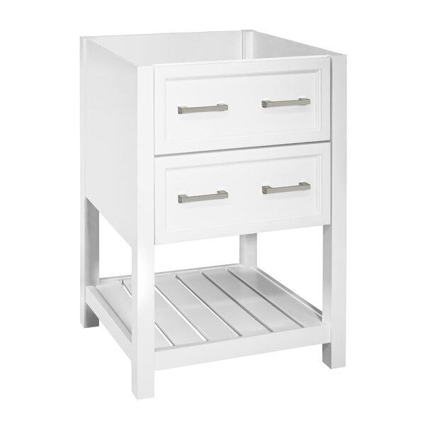 Kayden 24 Free-Standing Single Bathroom Vanity Base Only in White