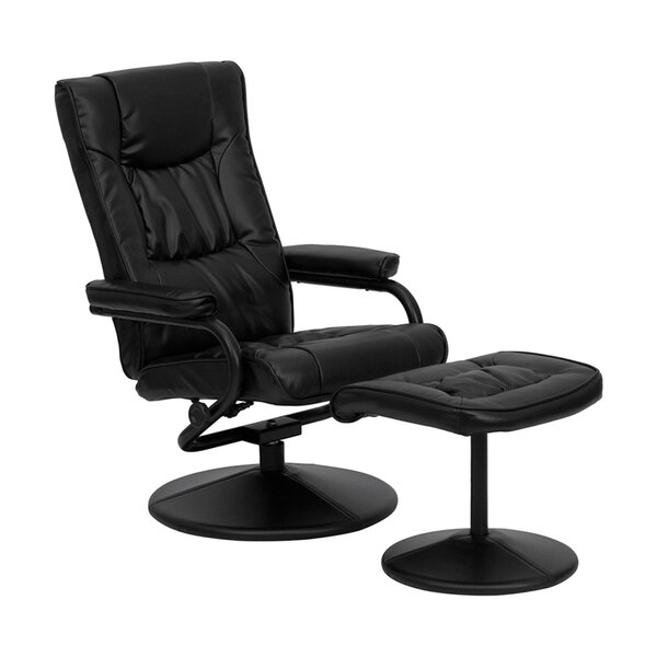 Eiver Manual Swivel Recliner With Ottoman By Ebern Designs