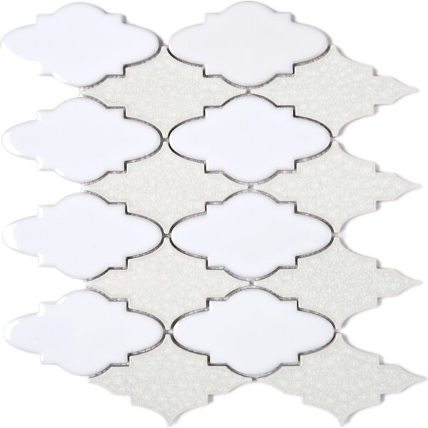 Roman Art Series Mario 4 x 4 Mixed Material Tile in Beige/White by Multile