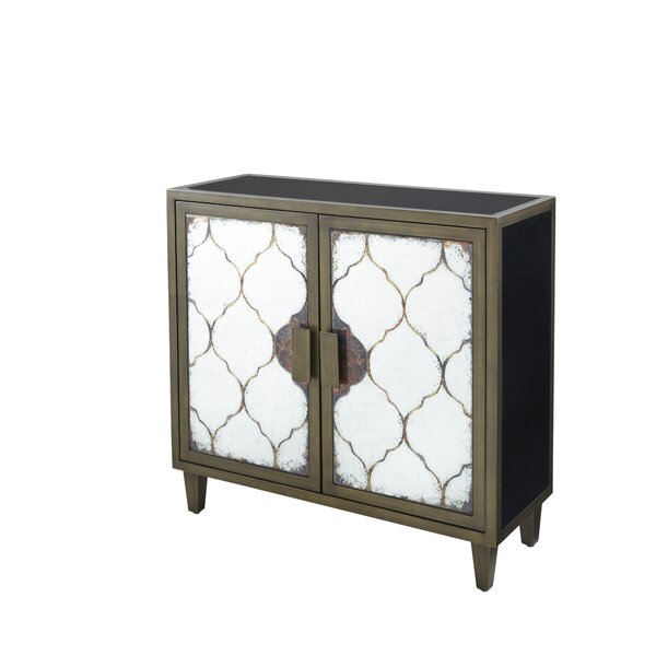 Weccacoe 2 Door Accent Cabinet by Bungalow Rose Bungalow Rose