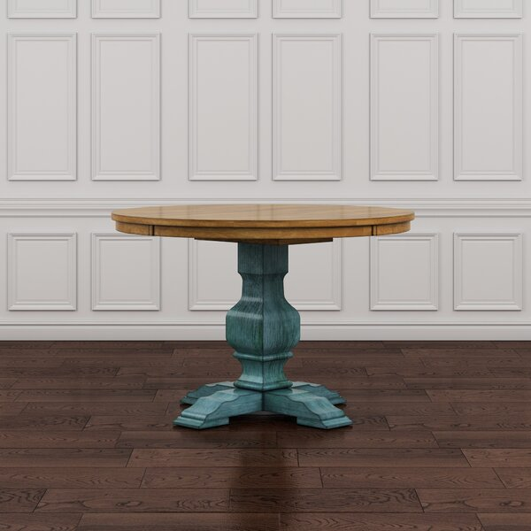 Fortville Solid Wood Dining Table by Three Posts