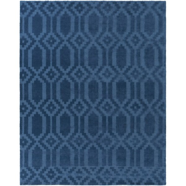 Brack Hand-Loomed Blue Area Rug by Wrought Studio