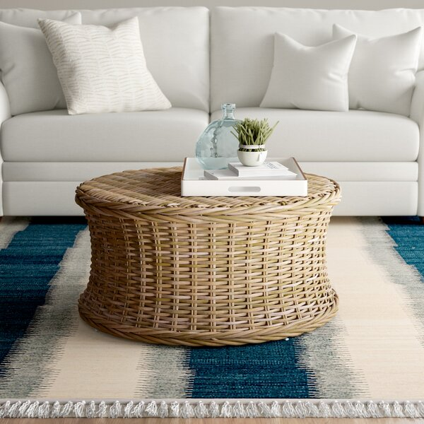 Willow Drum Coffee Table By Beachcrest Home