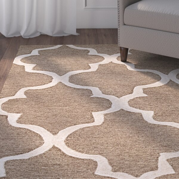 Felix Hand-Tufted Wool Beige/Brown Area Rug by Alcott Hill