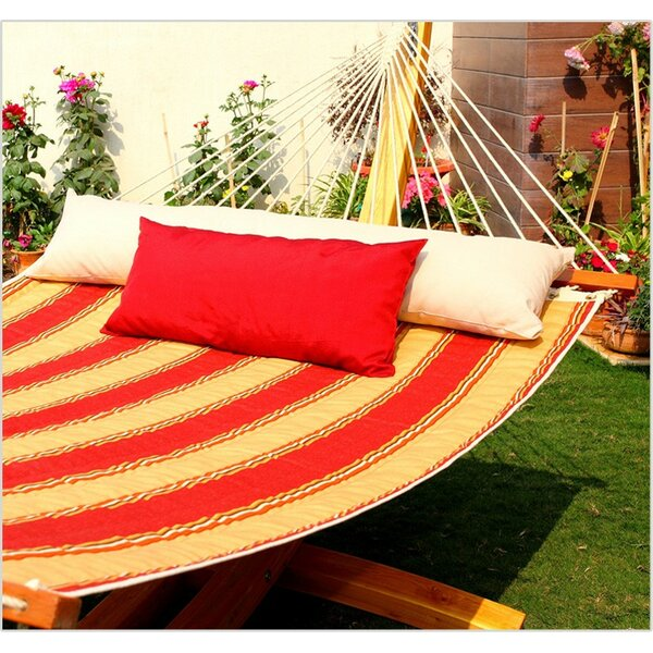 Mererid Quilted Striped Tree Hammock by Breakwater Bay